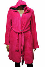 Womens Jennyfer Hooded Night Gown Bath Robe Cerise Pink Size 8 to 12