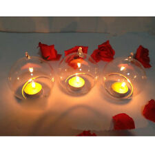 Classic Clear Hanging Glass Candle Holder Votive Candlestick Wedding Party Decor