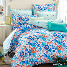 New Cotton Floral King Queen Full Twin Size Bed Duvet/Quilt Cover Bed Set Linen