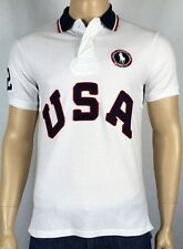Polo Ralph Lauren White Custom Fit USA Olympic Polo Shirt NWT $145