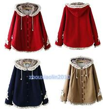 Women Jacket Coat Winter Cute Cape Coat Christmas Hoodie Lolita Girls Jacket