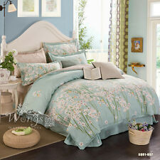 100% Cotton New King Queen Full Twin Size Bed Floral Quilt/Duvet Cover Set Linen