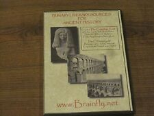 Primary Literary Sources for Ancient History2 Disks for computer-Very Good Con.
