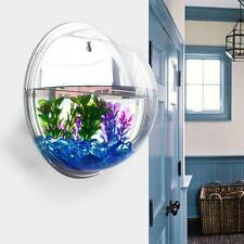 Wall-mounted Hanging Acrylic Fish Tank Aquarium Bowl Plant Pot Home Decor W0OD