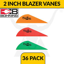 Bohning 2 Inch Blazer Vanes - 36 Pack - Arrow Fletching for Archery