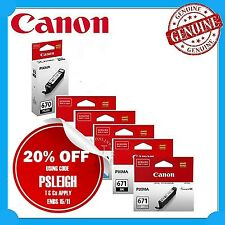 Any 1x Canon Genuine PGI670-BK/CLI671 BK/C/M/Y/GY Ink Cart- MG7760/MG7765/MG7766