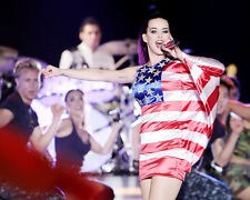 KATY PERRY PERFORMING ON STAGE AMERICAN FLAG DRESS PHOTO OR POSTER