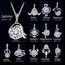 1pc 925 sterling silver 12 Zodiac Sign pendant Scorpion Libra Sagittarius Cancer
