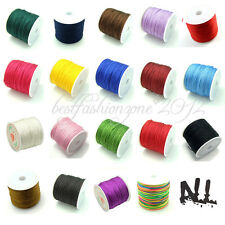 0.8mm Nylon Cord DIY Jewelry Making Line Wire Chinese Knot Beading 19 Colours