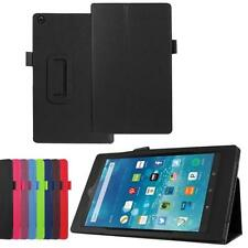 Folio Leather Case Flip Stand Cover Wake Sleep For Amazon Fire HD10 2015 Tablet
