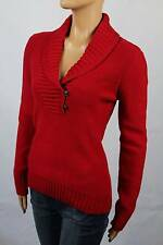 Ralph Lauren Red Shawl Collar Buttoned Sweater NWT