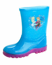 Frozen Girls Blue/Pink Wellingtons