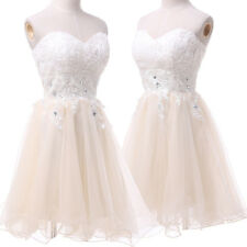 Strapless Organza Short Homecoming Cocktail Evening Gown Prom Bridesmaid Dress