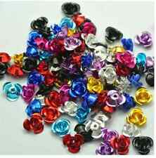 200/500/1000pcs  colorful aluminum flowers charms spacer beads 6mm