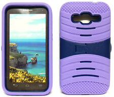 for Samsung Galaxy Core Prime / Prevail LTE - LILAC & NAVY BLUE U-Case Cover