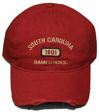 New! South Carolina Gamecocks - Adjustable Buckle Back Hat Pre-Distressed Cap