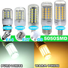 AC 220V E27 E14 G9 G4 5050 smd 5W/6W/7W/8W 27/30/48/59/69 LED Light Bulb Lamp