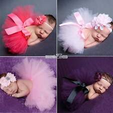Head Flower Tutu Skirt Girls Newborn Baby Costume Infant Photo Photography Prop