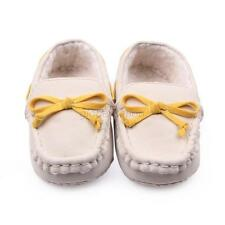 Chic Infant Girl Boy Plain Loafers Tooddler Non-Slip Comfy Indoor Baby Shoes G86