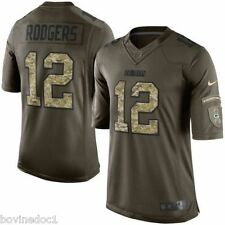 LARGE Nike NFL Green Bay Packers Aaron Rodgers Salute To Service Stitched Jersey