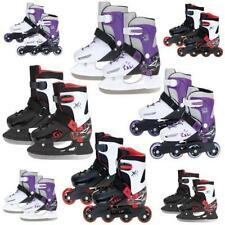 XQ MAX GIRLS BOYS INLINE ROLLER SKATES ICE SKATING BOOTS ADJUSTABLE SHOES BLADES
