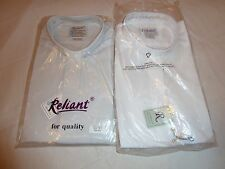 NWT RELIANT LONG SLEEVE CLERGY SHIRT W/NECKBAND COLLAR  WHITE OR LIGHT GRAY