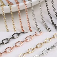 Wholesale 1pc Thin Circles Link Chain Necklace for Pendant Women/Men Jewelry