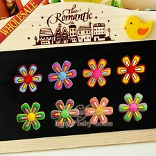 4PCS Flowers Fridge Magnets,Refrigerator Magnets,Office Supplies Students Gifts
