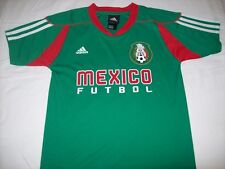 Mexico Futbol World Cup Soccer YOUTH  Adidas Home Green Jersey