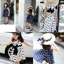 Toddler Baby Girls Kids Dress Princess Pageant Party Polka Dot Dresses Age 2-7 Y