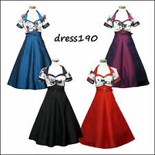dress190 Floral Cap Sleeve 50s 60s Rockabilly Vintage Prom Party Cocktail Dress