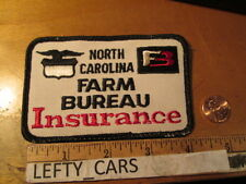 "NORTH CAROLINA FARM BUREAU INSURANCE EMBROIDERED CLOTH PATCH -SIZE 4-1/4""X2""-3/4"