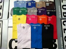 1 NEW PROCLUB V-NECK T-SHIRT COMFORT BLANK PLAIN COLOR TEE PRO CLUB S-3XL 1PC