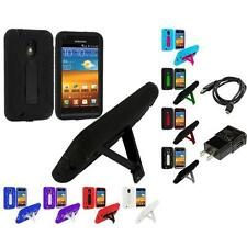 Hybrid Heavy Duty Case for Samsung Sprint Galaxy S2 II Epic Touch 4G Charger