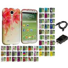 Design Hard Snap-On Rubberized Skin Case for Samsung Galaxy S4 Charger