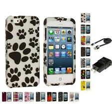 Design Hard Snap-On Rubberized Case Skin Cover for iPhone 5 5G 5th Accessories