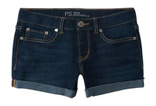 aeropostale kids ps girls' dark wash denim shorty shorts