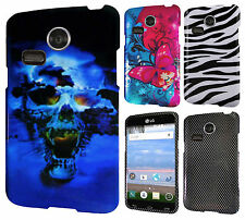 For LG Sunrise L15G HARD Protector Case Snap Phone Cover Accessory +Screen Guard