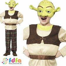 KIDS SHREK OGRE LICENSED BOOK WEEK age 4-12 boys childs fancy dress costume