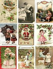 Vintage Christmas Postcard Collage Sheet           A28