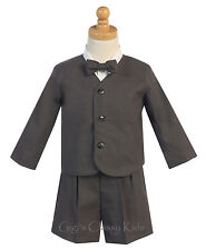 New Baby Toddler Charcoal Boys Suit Set Shorts Wedding Easter Birthday G828