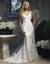New white/ivory Mermaid Wedding Dress Bridal Gown Size 4 6 8 10 12 14 16 18 20++