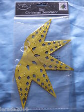 MULTI COLOURED FOIL CHRISTMAS STAR CEILING DECORATION PARTY TRIMMINGS CLUBS