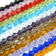 4mm Bicone Faceted Crystal Glass Spacer Beads 22Color-1 Or Mixed R0084
