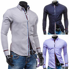 Bolf 5801 Shirt Long Sleeve Men Leisure Casual Style Polo Slim Fit 2B2 Men's