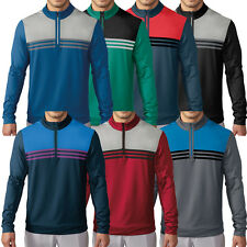 2016 Adidas Golf Climacool Colourblock 1/4Zip Layering Top Mens Sweater Cover-Up