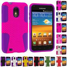Hybrid Mesh Hard/Soft Case Cover for Samsung Sprint Galaxy S2 S II Epic Touch 4G