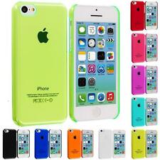 For iPhone 5C Color Clear Crystal Hard Snap-On Ultra Thin Back Skin Case Cover