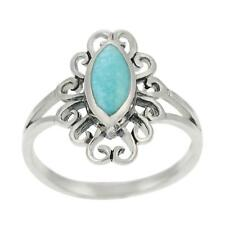Journee Sterling Silver Marquise-cut Turquoise Ring