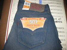 NWT  Levis 501 CT Jeans Mens Original Fit Customized & Tapered  Cotton Denim